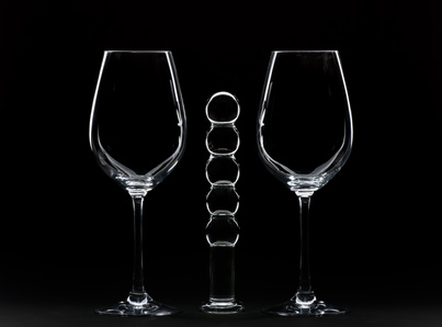 Wine Glasses and Dildo